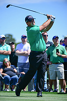 Patrick Reed (USA) watches his tee shot on 3 during round 1 of the Shell Houston Open, Golf Club of Houston, Houston, Texas, USA. 3/30/2017.<br /> Picture: Golffile | Ken Murray<br /> <br /> <br /> All photo usage must carry mandatory copyright credit (&copy; Golffile | Ken Murray)