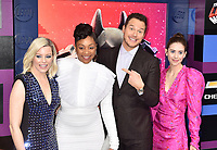 WESTWOOD, CA - FEBRUARY 02: (L-R) Elizabeth Banks, Tiffany Haddish, Chris Pratt and Alison Brie attend the Premiere Of Warner Bros. Pictures' 'The Lego Movie 2: The Second Part' at Regency Village Theatre on February 2, 2019 in Westwood, California.<br /> CAP/ROT/TM<br /> &copy;TM/ROT/Capital Pictures