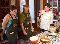 Los Dos cooking workshop with chef David Sterling in Merida, Yucatan, Mexico.