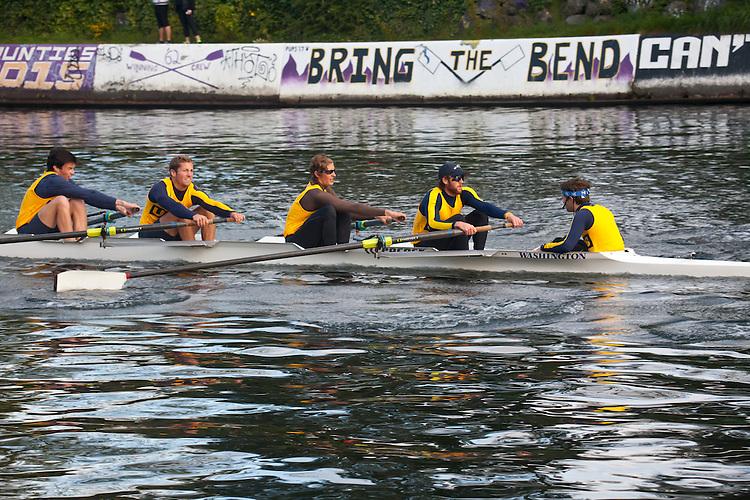 Rowing, Seattle, The Husky Open, April 4 2015, rowing regatta, Montlake Cut, University of California Santa Barbara, Mens Second Varsity eight, College M 2V8, crew, Washington State, Pacific Northwest,