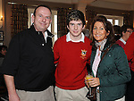County Louth golf club junior captain Benjamin Doggett pictured with his parents Brendan and Catherine at the captain's drive in. Photo: Colin Bell/pressphotos.ie