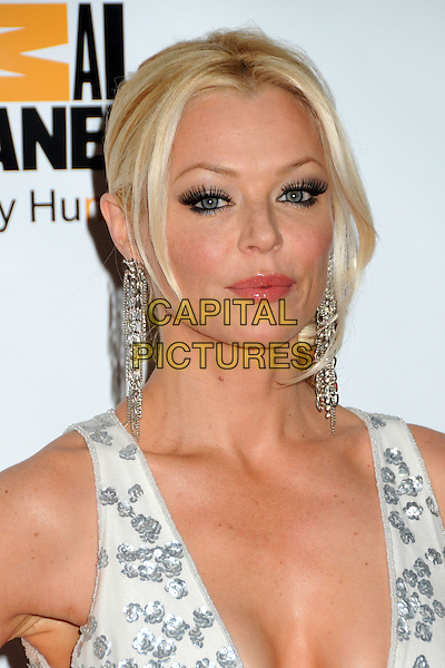CHARLOTTE ROSS .25th Anniversary Genesis Awards held at the Hyatt Regency Century Plaza, Century City, California, USA, .19th March 2011..portrait headshot eyelashes make-up cleavage white silver earrings beauty  dangly .CAP/ADM/BP.©Byron Purvis/AdMedia/Capital Pictures.