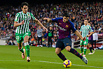 Luis Alberto Suarez Diaz of FC Barcelona (R) is followed by Aissa Mandi of Real Betis during the La Liga 2018-19 match between FC Barcelona and Real Betis at Camp Nou, on November 11 2018 in Barcelona, Spain. Photo by Vicens Gimenez / Power Sport Images