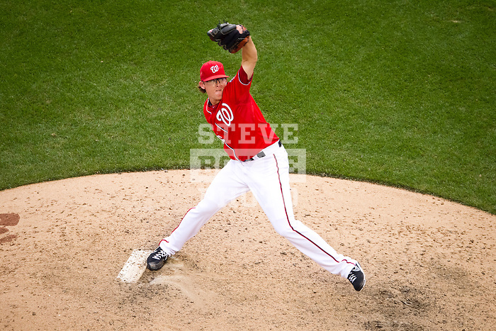 Washington Nationals right-handed pitcher Tyler Clippard (36) throws during a game against the Miami Marlins at Nationals Park in Washington, DC on September 8, 2012.