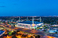 San Antonio Alamodome Twilight -  San Antonio skyline on prints, canvas and metal.<br />