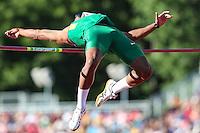 TORONTO, CANADÁ, 22.07.2015 - PAN-ATLETISMO - Luiz de Araujo no salto de altura no atletismo nos Jogos Panamericanos na cidade de Toronto no Canadá, nesta quarta-feira, 22 (Foto: Vanessa Carvalho/Brazil Photo Press)