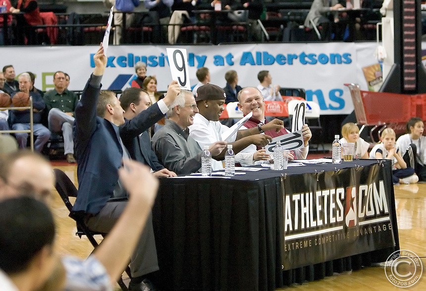 1-18-06-Boise ID. The 22nd annual CBA All Star Classic game in Quest Arena. The West defeated the East 119-110.