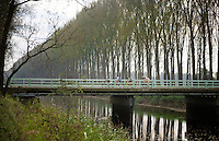 5 man breakaway group over the Damme Canals<br /> <br /> stage 3<br /> Euro Metropole Tour 2014 (former Franco-Belge)