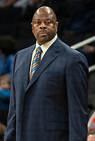 WASHINGTON, DC - DECEMBER 28: Patrick Ewing head coach of Georgetown follows the action. during a game between American University and Georgetown University at Capital One Arena on December 28, 2019 in Washington, DC.