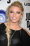 """LOS ANGELES, CA - OCTOBER 04: Grace Valerie arrives at the launch of """"Just Dance 3"""" at The Beverly on October 4, 2011 in Los Angeles, California."""