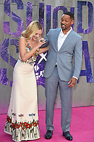"Margot Robbie and Will Smith<br /> arrives for the ""Suicide Squad"" premiere at the Odeon Leicester Square, London.<br /> <br /> <br /> ©Ash Knotek  D3142  03/08/2016"