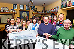 Photographed at a presentation at the Junction Bar, Camp to the Kerry Branch of the Irish Kidney Association of money raised at the Vintage Festival in Camp and the South Kerry Ploughing Championship.<br /> From left, Bernadette Fitzgerald of the Camp Vintage Festival presenting a cheque for &euro;2,565 to Teresa Looney and Lorraine Moynihan of the Kidney Association and Tom Leslie, South Kerry Ploughing presenting a cheque for &euro;1,000 to Con Brosnan, Chairman, Irish Kidney Association along with volunteers of both organisations.
