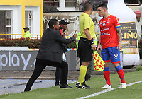 IPIALES- COLOMBIA,15-05-2019:Alexis García director técnico del Deportivo Pasto ante el América de Cali durante el segundo  partido de los cuadrangulares finales de la Liga Águila I 2019 jugado en el estadio Municipal de Ipiales de la ciudad de Ipiales. /Alexis Garcia coach of Deportivo Pasto agsint of America de Cali  during the second match for the quarter finals B of the Liga Aguila I 2019 played at the Municipal de Ipiales stadium in Ipiales city. Photo: VizzorImage / Leonardo Castro / Contribuidor