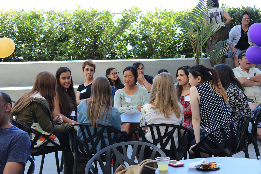 Accepted Emerson College undergraduate students get to know one another at a welcome event at Emerson Los Angeles on March 29, 2015.
