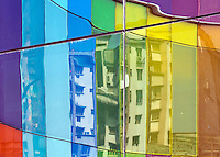 Modern Architecture and colourful Buildings in Kolkata, West Bengal, India
