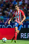 Stefan Savic of Atletico de Madrid in action during the La Liga 2017-18 match between Atletico de Madrid and Sevilla FC at the Wanda Metropolitano on 23 September 2017 in Wanda Metropolitano, Madrid, Spain. Photo by Diego Gonzalez / Power Sport Images