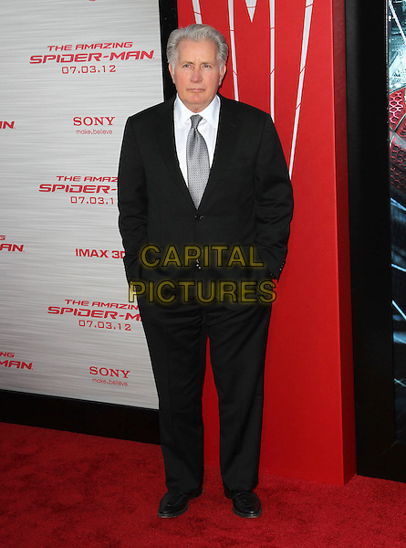 """Martin Sheen.Los Angeles Premiere Of """"The Amazing Spider-Man"""" Held The at Regency Village Theatre, Westwood, California, USA..June 28th, 2012.full length black suit grey gray tie white shirt .CAP/ADM/FS.©Faye Sadou/AdMedia/Capital Pictures."""