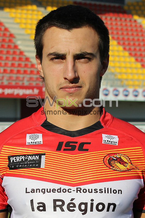 PICTURE BY CATALANS DRAGONS - Rugby League - Super League - Catalans Dragons 2013 Photo Day - Gilbert Brutus Stadium, Perpignan, France - 07/01/13 - Catalans Damien Cardace.