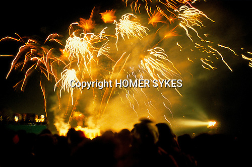 Silver Jubilee celebrations, London 1977.Uk Fire works Hyde Park London