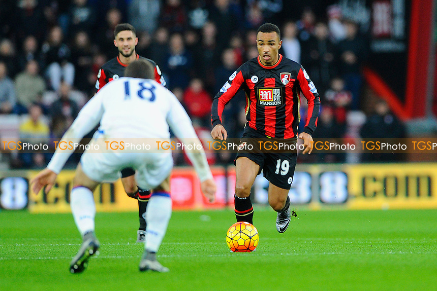 James McArthur of Crystal Palace stands off Junior Stanislas of AFC Bournemouth during AFC Bournemouth vs Crystal Palace at the Vitality Stadium