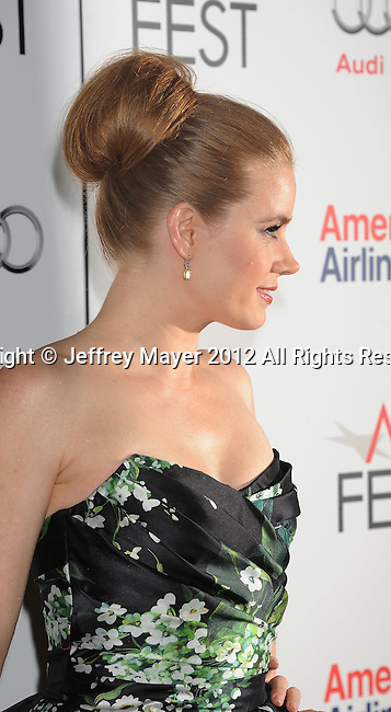 LOS ANGELES, CA - NOVEMBER 03: Amy Adams arrives at the 2012 AFI FEST - 'On The Road' Gala Screening at Grauman's Chinese Theatre on November 3, 2012 in Hollywood,