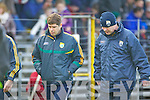 Kerry manager Eamon Fitzmaurice with Selector Diarmuid Murphy at their round Two of the National Football league game against Derry at Fitzgerald Stadium, Killarney on Sunday the 9th of February.