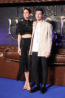 "Katherine Waterston and Ezra Miller<br /> at the premiere of ""Fantastic Beasts and where to find them"", Odeon Leicester Square, London.<br /> <br /> <br /> ©Ash Knotek  D3198  15/11/2016"