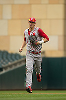 Logan Sowers (2) of the Indiana Hoosiers looks on during a 2015 Big Ten Conference Tournament game between the Michigan Wolverines and Indiana Hoosiers at Target Field on May 20, 2015 in Minneapolis, Minnesota. (Brace Hemmelgarn/Four Seam Images)