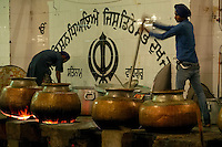 The 'Langars' or community kitchen serves visitors  at this Sikh house of worship.