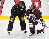Tyson Spink (Colgate - 8) - The Harvard University Crimson defeated the visiting Colgate University Raiders 7-4 (EN) on Saturday, February 20, 2016, at Bright-Landry Hockey Center in Boston, Massachusetts,