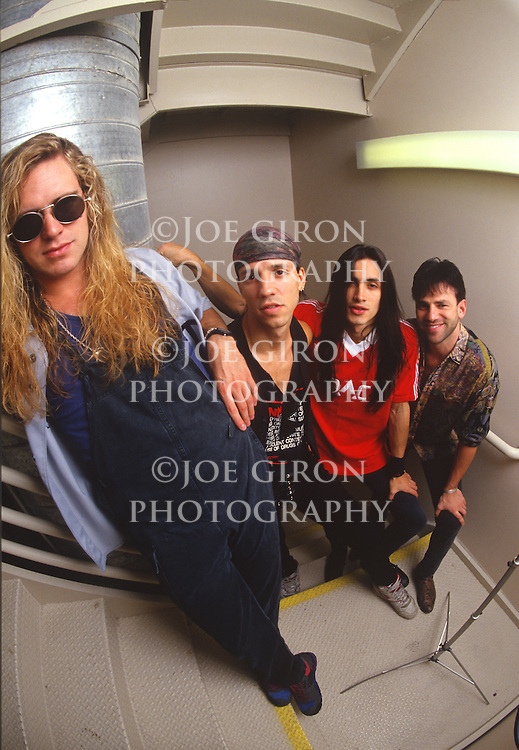 Various portrait sessions of the rock band, Extreme