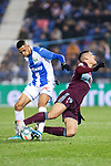CD Leganes's  Youssef En-Nesyri (L) and RC Celta de Vigo's Gabriel Fernandez during La Liga match 2019/2020 round 16<br /> December 8, 2019.  <br /> (ALTERPHOTOS/David Jar)