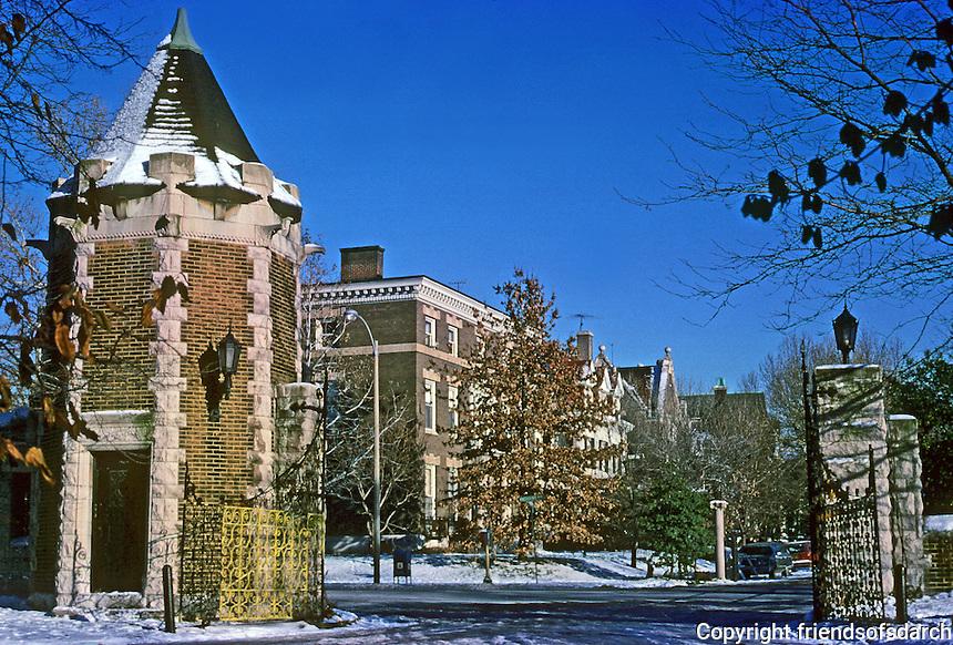 St. Louis: West End. Gate, Portland Place on Union Blvd. 1891. Photo '78.