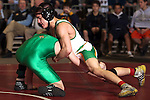 02/26/11--Cleveland's Max Freund wrestles Pendelton's Dylan Holcomb in the 119 lb.  weight division of the 5A wrestling state championship at the Memorial Coliseum..Photo by Jaime Valdez..........................................