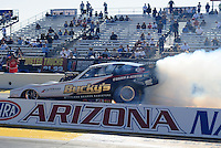 Feb. 17 2012; Chandler, AZ, USA; NHRA nostalgia funny car driver Ryan Davenport during qualifying for the Arizona Nationals at Firebird International Raceway. Mandatory Credit: Mark J. Rebilas-