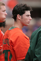 David Gutierrez of the Miami Hurricanes vs. the Virginia Cavaliers: March 24th, 2007 at Davenport Field in Charlottesville, VA.  Photo by:  Mike Janes/Four Seam Images