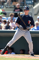 March 8, 2010:  Second Baseman Chris Parmelee of the Minnesota Twins during a Spring Training game at Ed Smith Stadium in Sarasota, FL.  Photo By Mike Janes/Four Seam Images