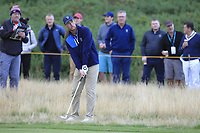 Andy Ogletree (USA) on the 1st during the Foursomes at the Walker Cup, Royal Liverpool Golf CLub, Hoylake, Cheshire, England. 07/09/2019.<br /> Picture Thos Caffrey / Golffile.ie<br /> <br /> All photo usage must carry mandatory copyright credit (© Golffile | Thos Caffrey)
