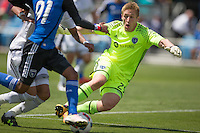 San Jose, CA - Sunday, April 24, 2016: The San Jose Earthquakes defeated Sporting Kansas City 1-0 at Avaya Stadium.
