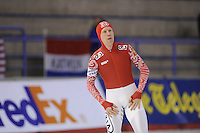 SCHAATSEN: CALGARY: Olympic Oval, 08-11-2013, Essent ISU World Cup, 500m, Igor Bogolubsky (RUS), ©foto Martin de Jong