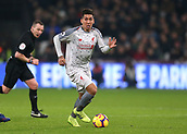 4th February 2019, London Stadium, London, England; EPL Premier League football, West Ham United versus Liverpool; Roberto Firmino of Liverpool in action