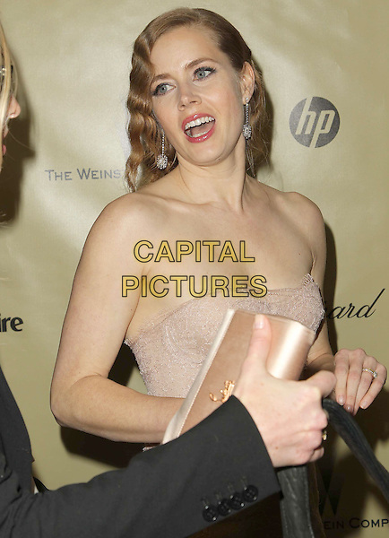 Amy Adams.The Weinstein Company's 2013 Golden Globe After Party held at The Old trader vic's at The Beverly Hilton Hotel in Beverly Hills, California, USA..January 13th, 2013.globes half length pink lace strapless mouth open funny .CAP/ADM/KB.©Kevan Brooks/AdMedia/Capital Pictures.