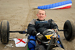Adrian Phelan from Stamullen who tok part in the kite buggy yracing at Bettystown beach on Saturday.