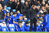 2nd December 2017, Stamford Bridge, London, England; EPL Premier League football, Chelsea versus Newcastle United; David Luiz of Chelsea gives Andreas Christensen of Chelsea a high five