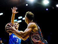 Action from the Australian National Basketball League match between Skycity Breakers and Illawarra Hawks at TSB Bank Arena in Wellington, New Zealand on Thursday, 14 February 2019. Photo: Dave Lintott / lintottphoto.co.nz