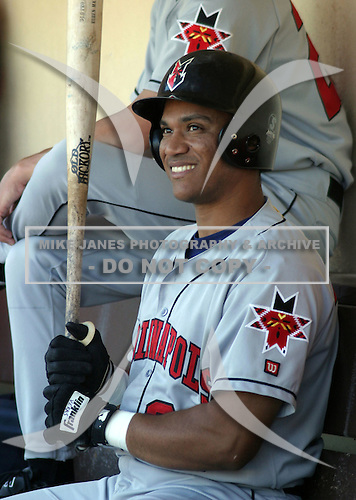 February 2, 2009:  Wilton Veras of the Indianapolis Indians, Class-AAA affiliate of the Milwaukee Brewers, during an International League game at Frontier Field in Rochester, NY.  Photo by:  Mike Janes/Four Seam Images