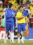 12 September 2007: Brazil's Fernando (17) and Brazil's Diego (21). The Brazil Men's National Team defeated the Mexico Men's National Team 3-1 at Gillette Stadium in Foxborough, Massachusetts in an international friendly.