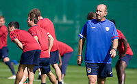 USA's assistant coach Glen Myerback  during practice in Hamburg, Germany, for the 2006 World Cup, June, 9, 2006.