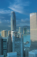 Overlooking the skylines on Hong Kong Island..