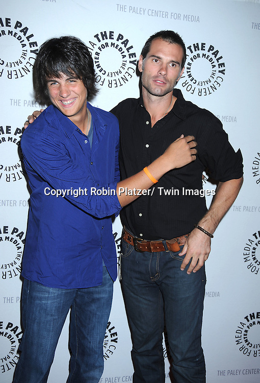 Mick Hazen and Austin Peck attending the Farewell to As the World Turns at the Paley Center for Media on August 18, 2010 in New York City.
